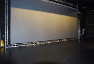 Pilbeam Theatre Rear Projection Screen 1